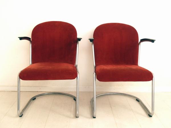 Originele Gispen Bureaustoel.Gispen Stoel Bekleden Robedih Meubelstoffeerder